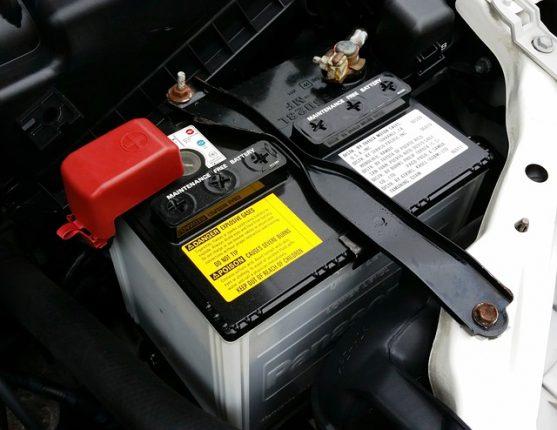 batteria per la macchina