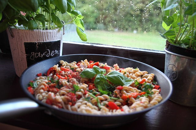 Zuppa di grano saraceno e peperoni
